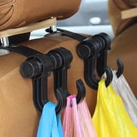 Wholesale Car Hook Holders Hangers - Auto Car Back Seat hook hanger car Headrest Hanger Holder Hooks Clips For Bag Purse Cloth Grocery Automobile Interior stowing hook