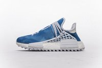 Wholesale human race shoes men online - With Box Human Race Peace Blue Sneakers Mens and Womens Running Shoes for Men Sports Shoes Hu Trail Black Purple Size US5