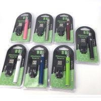 bateria desligada venda por atacado-Atacado 510 bateria 350 mah Lo pré-aqueça 5 clique on-off magro VV baterias vape caneta bateria e carregador USB kit Para extrato vaporizador de óleo