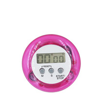 Wholesale Digital Display Clock Countdown - 20pcs lot portable digital Countdown Kitchen Timer cooking practice Count down UP Alarm Clock LCD display plastic round type