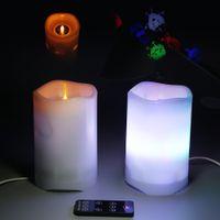 projetores de vela venda por atacado-2-em-1 Projetor Night Light Com Estrela de Vela Função de Projeção de Carregamento USB LED Night Light WIith Controle Remoto Frete Grátis