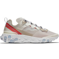 ingrosso scarpe gialle per gli uomini-Epic React Element 87 Undercover Uomo Running Shoes For Women Designer Sneakers Sport Mens Scarpe da allenamento Sail Light Bone