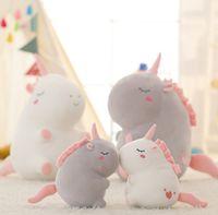 Wholesale character toys wholesale - Fluffy plush Unicorn toys Character Unicorn plush Soft Stuffed unicorn Plush Dolls for children gift Kids Toy GGA236 30pcs