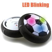 ingrosso potenza aerea per il giocattolo-Nuova creatività 1pcs divertente LED luce lampeggiante arrivo Air Power Soccer Ball Disc Indoor Football Toy Multi-superficie in bilico e scivolando giocattolo