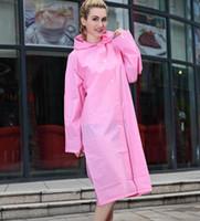 ingrosso poncho di moda femminile-Fabbrica diretta super spessa moda EVA adulto all'aperto impermeabile singolo poncho uomini e donne impermeabile non monouso