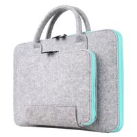Wholesale felt briefcase for sale - Group buy 2017 New Felt Universal Laptop Bag Notebook Case Briefcase Handlebag Pouch For Macbook Air Pro Retina Men Women