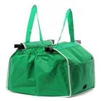 magasin d'épicerie achat en gros de-Épicerie Grab Shopping Bag Pliable Fourre-tout Écologique Réutilisable Stockage Organisateur Trolley Supermarché Grande Capacité Sac 3pcs / lot