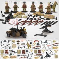 военное оружие оптовых-WW2 китайско-японская война японская армия мини-солдат куклы оружие TaiErZhuang военные строительные блоки игрушка в подарок для мальчика