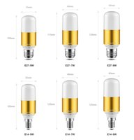 ingrosso oro 7w-E27 E14 LED lampada di mais 110 V 220 V LED lampadina 5 W 7 W 9 W LED luce Lampadario argento Oro Candela luce spot luce Per La Decorazione Domestica