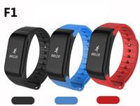 kan dijital toptan satış-F1 Kan Basıncı Akıllı Bant 0.66 OLED Ekran Dijital Pulse Oksimetre Kalp hızı Monitörü Uyku Monitör Spor Bileklik 26 ADET / GRUP