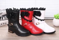 Wholesale genuine leather baby boots - Children's shoes snow boots 2016 winter new children's high boots student baby shoes girls lace boots