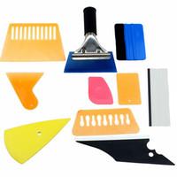 wickelklappe großhandel-10 STÜCKE Auto Auto Fenster Schutzfolie Tönung Wrapping Vinyl Werkzeuge 3 Mt Rakel Schaber Applikator Kits für alle automodelle