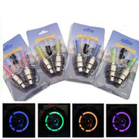 Wholesale light bike wheel free shipping for sale - Group buy 2pcs LED Bicycle Lights Wheel Tire Valve Caps Bike Accessories Cycling Lantern Spokes Bike Lamp Color blue Green Pink Yellow