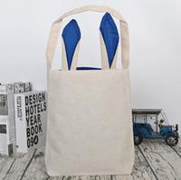 ingrosso coniglio di nozze-Easter Bunny Rabbit Ears Bag Lino Shopping Bags regalo Multi colori Wedding Festival Decor Borse ornamenti