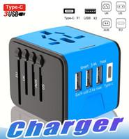 lg usb chargeur de prise de courant achat en gros de-Adaptateur universel de puissance de voyage USB tout-en-un avec haut débit 2.4A 3 prises USB portatives de prise murale de chargeur USB pour voyages d'affaires