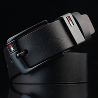 hombre de metal al por mayor-2018 recién llegado de diseñador Pin hebilla de cinturones de cuero de LA PU para hombres de lujo de la marca de cuero de la pu para hombre cinturón ceinture masculino LH-P76