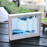 пейзажные рисунки оптовых-5 шт./лот песочные часы рисунки стекло зыбучих песков микро пейзаж 3D стереоскопический кадр творческая личность, простой ремесло подарок