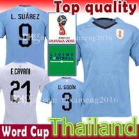 Wholesale Cups C - Uruguay 9 L.SUAREZ 21 E.CAVANI Soccer Jersey D.GODIN C.STUANI J.M.GIMENEZ C. RODRIGUEZ M.VECINO De ARRASCAETA 2018 world cup football shirt