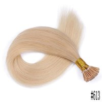 Wholesale hair i tipped remy human for sale - Group buy Brazilian European Hair I Tip Human Hair Pre bonded Straight Extensions Natural I Tip Hair Extensions FDSHINE