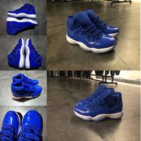 saltos altos online venda por atacado-Top Marca Esporte 11 11 s Mens Basketball Trainer Moda Sneaker Sapatos de Camurça de Aço Inoxidável Homem de Salto Alto Designer de Tênis Em Execução On-line