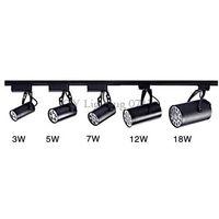 Wholesale spot luz - AC110V 220V 240V Modern LED track light 3 5 7 9 12 15 18w Black shell led spot lamp store shop track lighting rail spotlights fixture luz