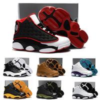 sneakers meninas on-line venda por atacado-Online 13 Crianças Sapatos de Basquete Crianças Nike air jordan 13 retro Alta Qualidade Calçados Esportivos Juventude Menina Da Menina Tênis De Basquete Venda US11C-3Y EU28-35