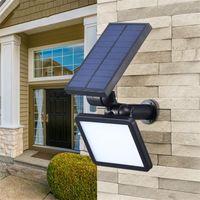 parlak güneş manzarası ışıkları toptan satış-Yeni Peyzaj Işık 48 LEDs Süper Parlak Güneş Spotlight Bahçe Avlu Açık Ayarlanabilir LED Güneş Çim Işık