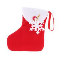 campana de navidad de plástico decoraciones al por mayor-Regalo de navidad calcetín mini árbol de navidad calcetines colgantes adorno paquete de caramelo bolsa de almacenamiento de caramelo bolsas de regalo para niños