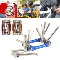 Wholesale mechanics tools - 4colors 11 In 1 Multi-Function Bike Repair Tool Mechanic Kit with Chain Break Wrench Chain Cutter Repair Tools Set Kit FFA439