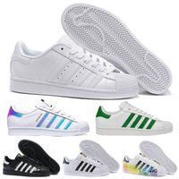 Wholesale camp stars - New Originals Superstar White Hologram Iridescent Junior Superstars 80s Pride Sneakers Super Star Women Men Sport Running Shoes 36-45
