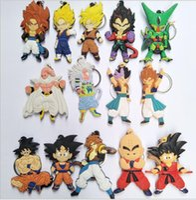 Wholesale balls keychain online - 16 design Dragon Ball Keychain Key Ring anime dragon ball Pendant Son Goku Krillin Kuririn Llavero Pendant toy KKA5773