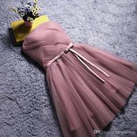 Wholesale light up clothes - White gauze 2017 short bridesmaid dress, bridesmaid dress formal clothes, spring summer plus small bridesmaid dresses