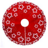 ingrosso bellissimo stand-Bellissimo albero di natale stand albero di natale gonna albero di natale vestito da giardino decorazione domestica stella stampa feltro morbido 100 cm