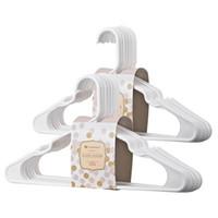 nass trocknender kleiderbügel großhandel-Rutschfeste weiße Kunststoff-Kleiderbügel Trockene und nasse PP-Trockengestelle Einfache und nahtlose Bekleidungsgeschäft-Kleiderbügel Größe 41.5x25cm