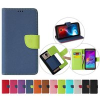 Wholesale lg flip phone leather case - Universal Hybrid Wallet PU Flip Leather Case Card Slot For 3.5 To 6.0 inch Mobile Phone iPhone Samsung LG HTC Nokia SONY Huawei BLU