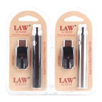 embalagem usb venda por atacado-LEI Pré-aquecimento VV Vape Pen 1100 mah Bateria Com Carregador USB Tensão Variável Pré-aqueça Bateria 510 Rosca Bateria Starter Kits Blister