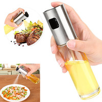 Wholesale oil dispenser wholesaler - Oil Sprayer For Cooking Stainless Steel And Glass Bottle Oil Dispenser For Cooking Utensils Frying Salad Baking HH7-1040