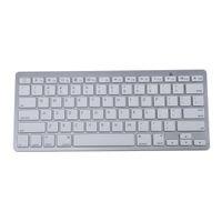Wholesale Ipad Keys - MCSAITE 450 Ultra Thin Portable Standard 78-Key Wireless Bluetooth Keyboard for Ipad Iphone MAC PC (Silver)