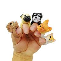 bague de réglage achat en gros de-Nouveau Hot Sales Cartoon Designs Mignonne Animal Bend Ring personnalité Drôle Chien 3D Ouverture Réglée Anneaux 6 styles C5557