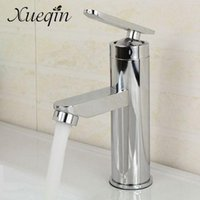 Wholesale Handle Faucets - Bathroom Single Handle Hole Hot Cold Water Mixer Taps Wash Basin Bathroom Kitchen Deck Mounted Mixing Basin Faucet