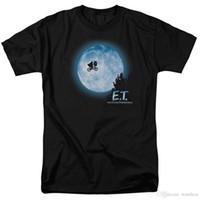 lua bicicleta venda por atacado-2017 Hot Sale Fashion E.T. Bicicleta do vôo através da lua camiseta E.T. Bicicleta do vôo através da lua camiseta