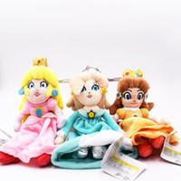 prenses rosalina peluş toptan satış-Süper Mario Prenses Peluş Bros Şeftali Papatya Rosalina Peluş Bebek Dolması Oyuncak kız bebek 8