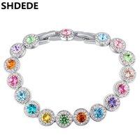 новый австрийский кристаллический браслет оптовых-SHDEDE Austrian Crystal Bracelets For Women Fashion New Arrival Colorful  Charm Bracelet Jewelry -25067