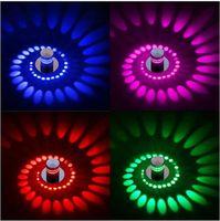 iluminação moderna varanda venda por atacado-Moderna CONDUZIU a Luz de Teto 3 W RGB arandela para Galeria de Arte Decoração Frente Varanda lâmpada Varanda corredores de luz Dispositivo elétrico de iluminação