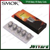 bobina de smok baby t8 al por mayor-Auténtico SMOK TFV8 Baby / Big Baby Coils Heads V8 Baby Coils V8 Baby-Q2 M2 X4 V8 Baby-T6 T8 núcleos 100% Original