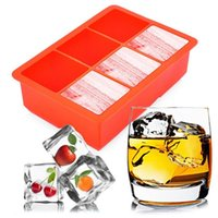 Wholesale fruit accessories for sale - Group buy DIY Creative Large Ice Cube Tray Perfect Square Mold Square Shape Silicone Ice Tray Fruit Ice Cube Maker Bar Kitchen Accessories