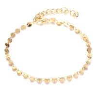 Wholesale anklet accessories resale online - Hot selling fashion accessories anklets foot chain simple retro style alloy circular chain bracelet women jewelry