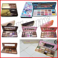 Wholesale Gold Palette - Faced Makeup Palette COCOA Eye Shadow Chocolate Gold 16 colors matte white chocolate bar sweet peach bon bons semi sweet Palette Eyeshadow