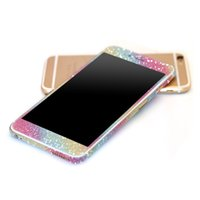 Wholesale full body decals - Glitter Bling Shiny Full Body Sticker Matte Skin Screen Protector For iphone7 7plus 6 6S plus 5 5S S7 edge S8 plus Front+Back decals 2018
