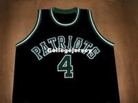 jersey patriota negro al por mayor-Barato para hombre CHAUNCEY BILLUPS PATRIOTS HIGH SCHOOL JERSEY NEGRO NUEVA CUALQUIER TALLA XS - 5XL Retro Basketball Jerseys